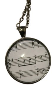 NP Circle Glass Music Pendent