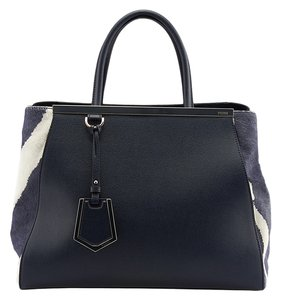 Fendi 2jours Pony Hair Tote in Blue