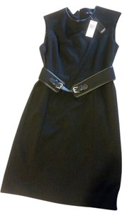 Premise Work Belt Leather Leather Trim Gold Zip Zipper Dress
