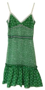 Dolce&Gabbana short dress Green & white Silk Strappy on Tradesy