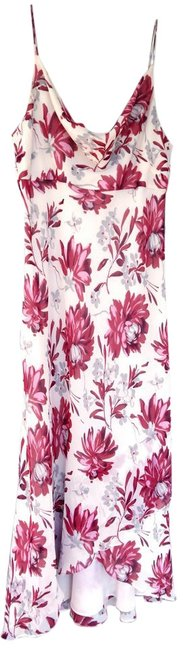 Cream Pink Red Grey Maxi Dress by Ann Taylor