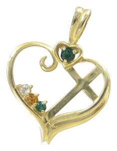Other 10K SOLID YELLOW GOLD PENDANT HEART LOVE CROSS CHARM NO SCRAP 1.7 GRAMS FINE