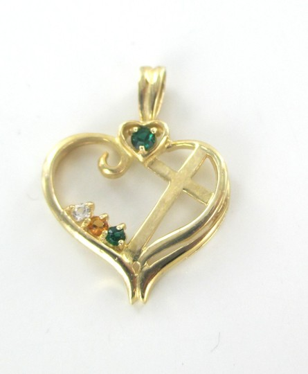 Other 10K SOLID YELLOW GOLD PENDANT HEART LOVE CROSS CHARM NO SCRAP 1.7 GRAMS FINE Image 5