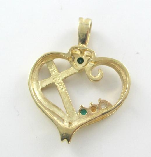 Other 10K SOLID YELLOW GOLD PENDANT HEART LOVE CROSS CHARM NO SCRAP 1.7 GRAMS FINE Image 6