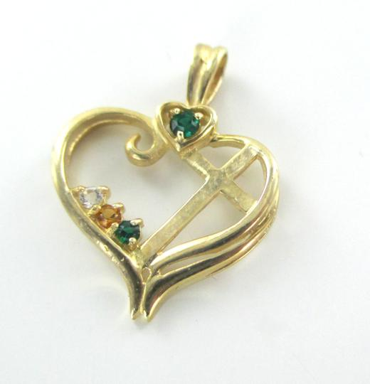 Other 10K SOLID YELLOW GOLD PENDANT HEART LOVE CROSS CHARM NO SCRAP 1.7 GRAMS FINE Image 8