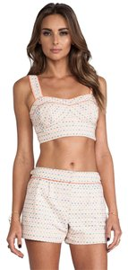 Trina Turk Evelina Bustier Top Crop Top Bra Top Maureen Shorts Pleated Pleated Shorts Cotton Set Playsuit Outfit Matching Outfit Dress