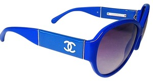 Chanel Chanel Blue CC Logo Sunglasses With Case