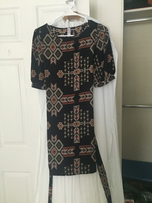 Alya short dress Navy Blue/Tribal Print on Tradesy Image 2