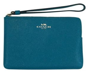 Coach New Fits Iphone Wristlet in Turquoise