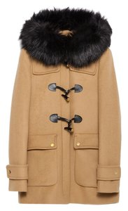 Zara Toggle Fur Duffle Pea Coat