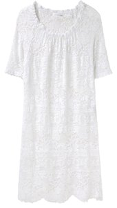 Isabel Marant short dress White Crochet Scalloped Sheer on Tradesy