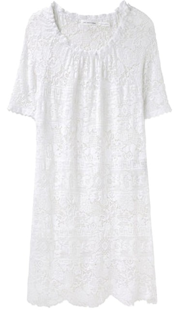 Item - White Etoile Romeo Crochet Mid-length Short Casual Dress Size 4 (S)