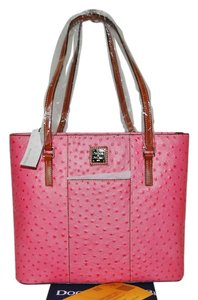 Dooney & Bourke Leather Lexington Shopper Tote in Hot Pink