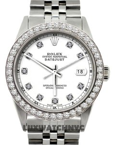 Rolex MEN'S ROLEX DATEJUST S/S 2.3CT DIAMOND WATCH