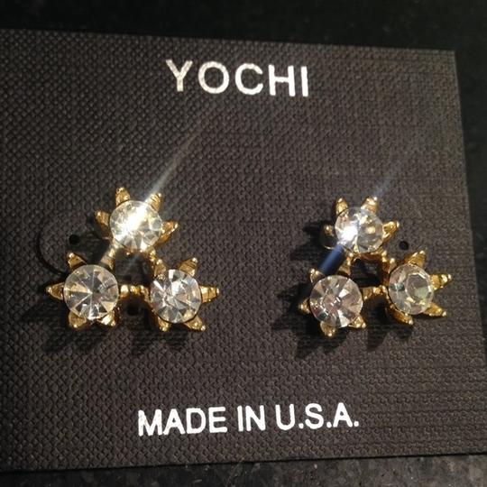 Yochi Yochi Bloom crystal earrings
