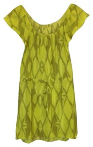 Twelfth St. by Cynthia Vincent short dress Yellow Silk Print Tie Waist on Tradesy