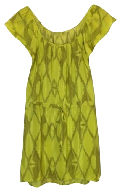 Preload https://img-static.tradesy.com/item/11042917/twelfth-st-by-cynthia-vincent-yellow-silk-mid-length-short-casual-dress-size-petite-4-s-0-1-650-650.jpg