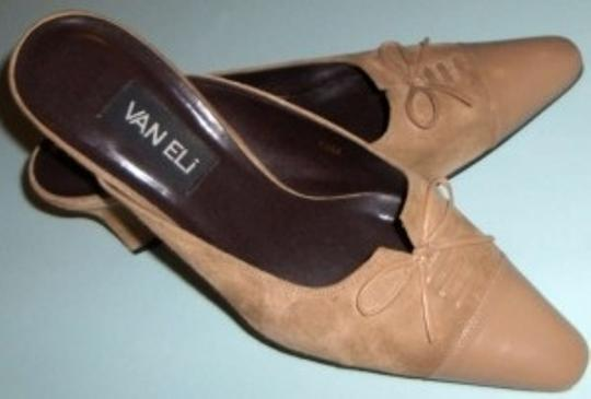 Vaneli Suede With Bow Size 10 Suede Beige Mules