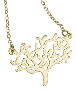 New Tree of Life Necklace - Tree Necklace in matte gold with 14 K gold filled chain - Modern, Tree ,Nature Necklace