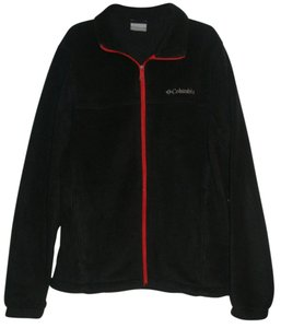 Columbia Full Front Zip * 2 Zip Hand * Logo Left Chest * Adjustable Drawcord Hem Black Jacket