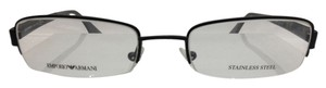 Emporio Armani NEW EMPORIO ARMANI EA9675 COLOR 003 BLACK SEMI RIM METAL EYEGLASSES MADE IN ITALY