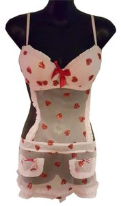 Victoria's Secret short dress Pink/Red Heart Pattern size 36C Victoria on Tradesy