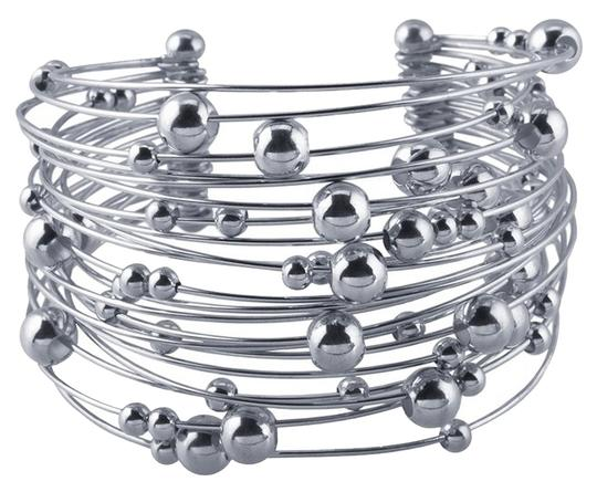 Other .925 Sterling Silver Designer 21-Wire Beaded Cuff Bracelet by BrianGdesigns