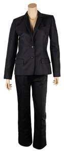 Calvin Klein Calvin Klein Collection Black Polyester & Silk Blazer, Size 6 (67960)