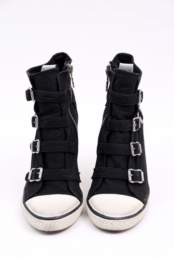 Ash Sneaker Canvas Buckles Black Wedges Image 1