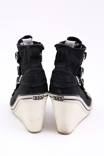 Ash Sneaker Canvas Buckles Black Wedges Image 4