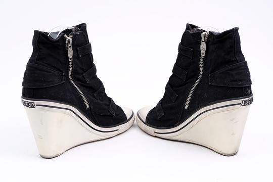 Ash Sneaker Canvas Buckles Black Wedges Image 5
