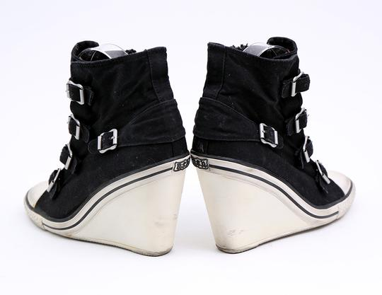 Ash Sneaker Canvas Buckles Black Wedges Image 6