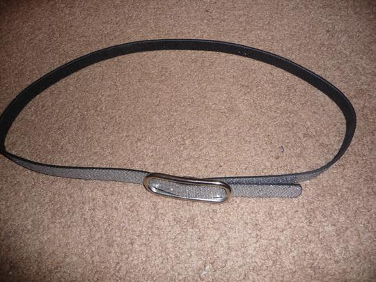 Other Black and silver sparkly reversible belt