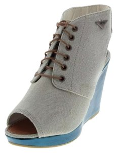 Diesel Cement / Teal Blue Wedges