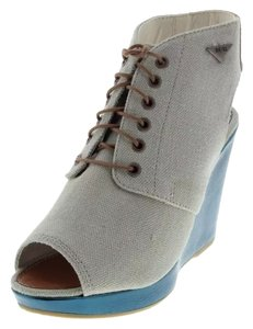 Diesel Cement and Teal Blue Wedges