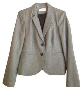 Calvin Klein Black and White (Gray) Blazer