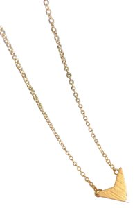 Other Gold Chevron V Pendant Necklace, Gifts for Best Friends.