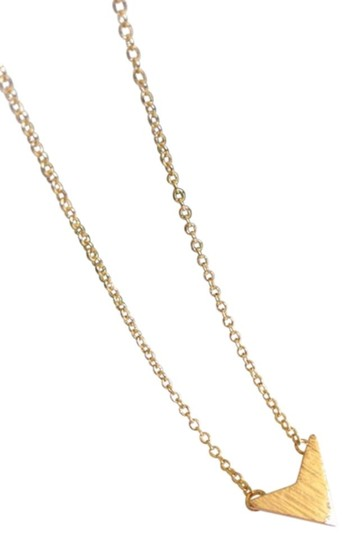 Other Gold Chevron V Pendant Necklace, Gifts for Best Friends. Image 2