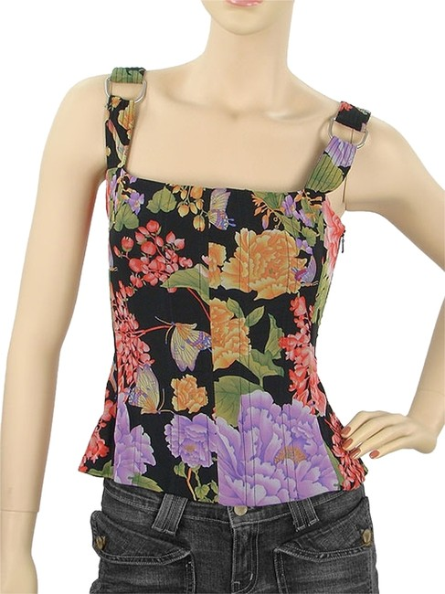 Preload https://item2.tradesy.com/images/dolce-and-gabbana-pink-red-purple-green-black-floral-silk-corset-tank-topcami-size-8-m-1104531-0-0.jpg?width=400&height=650