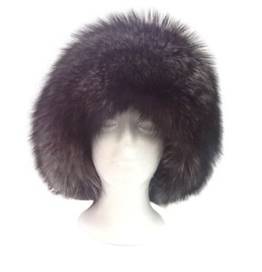 Other HAND MADE NATURAL SILVER FOX WOMEN'S HAT SIZE XL NEW WITH TAG