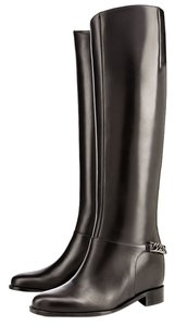 Christian Louboutin Leather Boot Tall New Black Boots