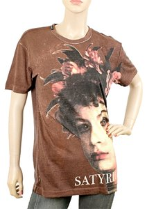 Dolce & Gabbana Print Cotton T Shirt Brown