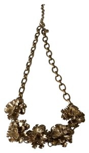 J.Crew J. Crew Magnolia Blossoms on Antique Gold Chain