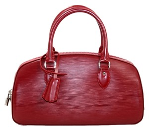 Louis Vuitton Epi Leather Satchel in Red