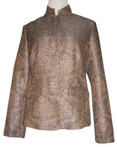 Liz Claiborne Metallic / Gold / Brown Jacket