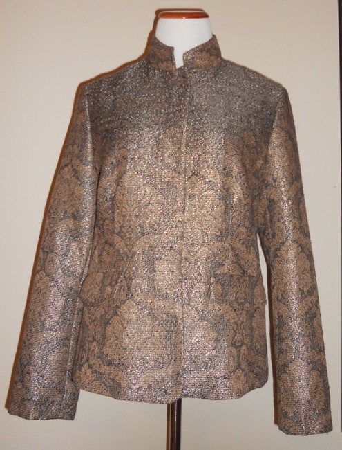 Liz Claiborne Metallic / Gold / Brown Jacket Image 1