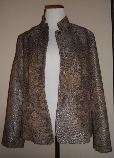 Liz Claiborne Metallic / Gold / Brown Jacket Image 5