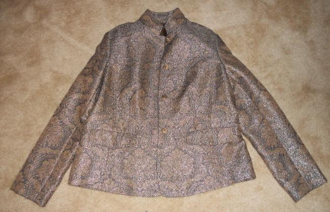 Liz Claiborne Metallic / Gold / Brown Jacket Image 8