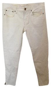 American Eagle Outfitters Ankle Zip Jean Ankle Skinny Pants Pale Yellow