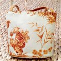 Kleinberg Sherrill Tote in Light Blue and Amber Image 1